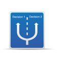 decisions vector image