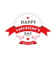 Valentine day emblem vector image vector image