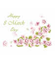 8 march card with flowers vector image