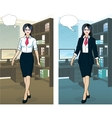 Asian Businesswoman in office interior vector image
