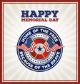Happy Memorial Day Badge vector image
