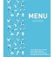 Sea food restaurant menu Seafood template design vector image