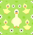 seamless background with funny goose vector image