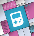 Tetris icon sign Modern flat style for your design vector image