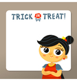 Trick or treat Halloween background template with vector image