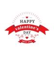 Valentine day emblem vector image