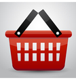 Red basket shopping vector image