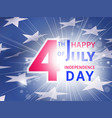 happy 4th of july us independence day poster vector image