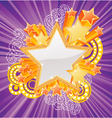 Marquee star vector image