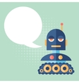 Design robot says something vector image vector image