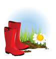 Set of gumboots vector image vector image