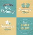 Vintage styled Summer vector image