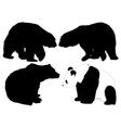 Bear Silhouette vector image