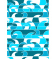 Blue abstract waves in a repeat pattern vector image
