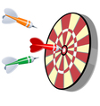 Darts and target vector image