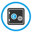 Euro Safe Circled Icon vector image