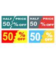 four advertisements leaflets flyers sale sticker vector image
