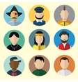 Set of Circle Icons with Man vector image