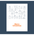 New Year Christmas pattern Xmas minimalistic vector image