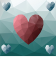 Low poly heart vector image vector image