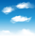 Wallpaper blue sky with realistic clouds vector image