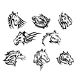 Horse head tribal tattoos vector image