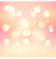 Pink bokeh light effect shining background vector image vector image