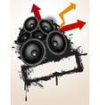 Speakers grunge vector image