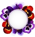 watercolor pansies vector image