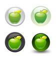 green apple button set web 20 icons vector image