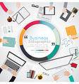 design of creative office workspace infographic vector image