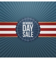 Memorial Day Sale textile Banner and Ribbon vector image