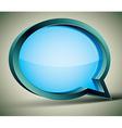 3d modern style speech bubble vector image