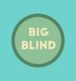 flat icon on stylish background big blind vector image