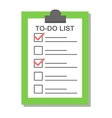 Flat plan check list icon vector image