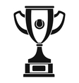 Gold cup icon simple style vector image