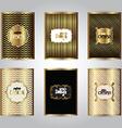 gold stylish brochure templates 2311 vector image