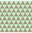 green triangle pattern vector image