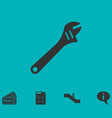 pipe wrench icon flat vector image