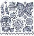 Set of ornamental tribal elements and symbols vector image