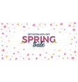 spring banner background with sacura vector image