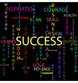 Success background vector image