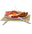 traditional english breakfast vector image
