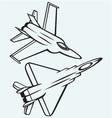 Warplane fighter vector image