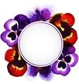 watercolor pansies vector image