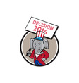 Republican Elephant Mascot Decision 2016 Circle vector image