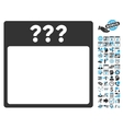 Unknown Calendar Date Flat Icon With Bonus vector image
