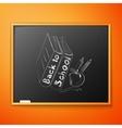 Back to school written on blackboard vector image