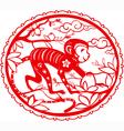 Monkey chinese zodiac vector image vector image