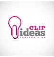 Clip Ideas Concept Symbol Icon or Logo Template vector image